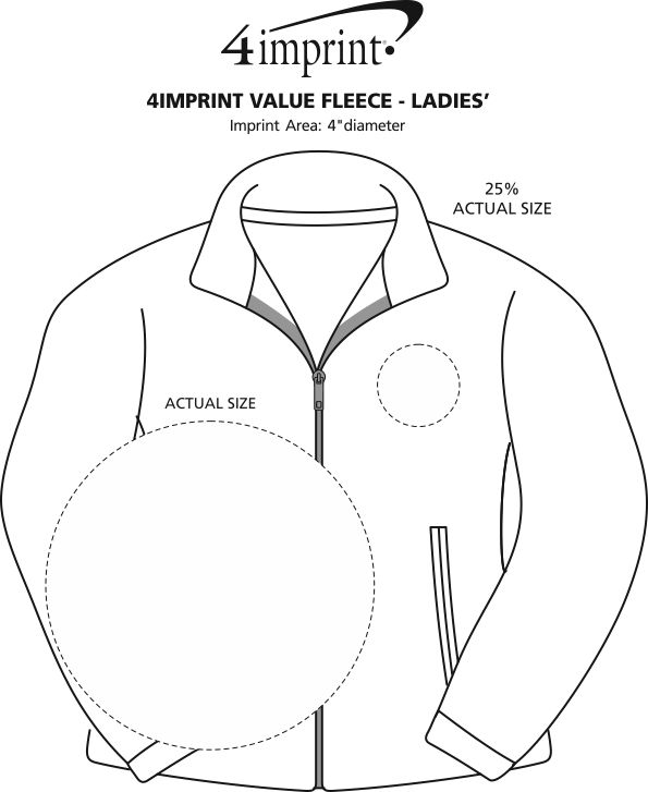 Imprint Area of Crossland Fleece Jacket - Ladies'