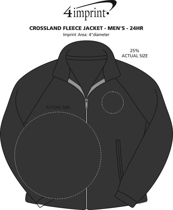 Imprint Area of Crossland Fleece Jacket - Men's - 24 hr