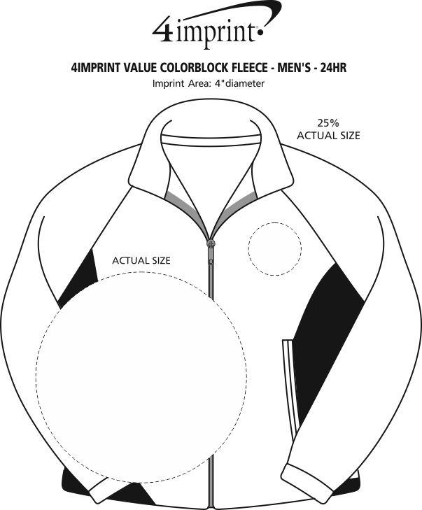 Imprint Area of Crossland Colorblock Fleece Jacket - Men's - 24 hr