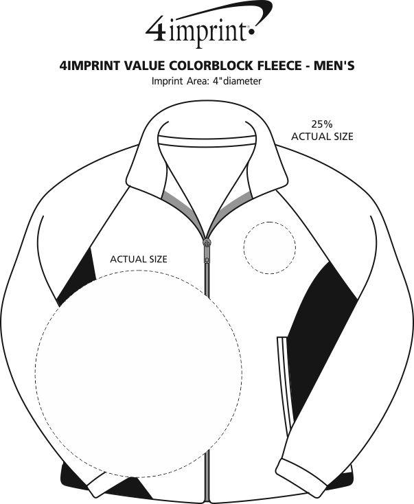 Imprint Area of Crossland Colorblock Fleece Jacket - Men's