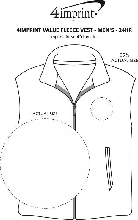 Imprint Area of Crossland Fleece Vest - Men's - 24 hr