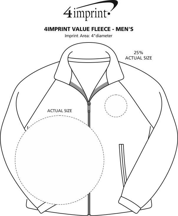 Imprint Area of Crossland Fleece Jacket - Men's
