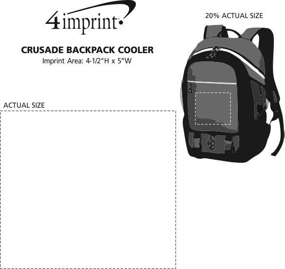 Imprint Area of Crusade Backpack Cooler