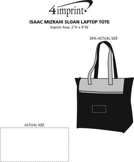 Imprint Area of Isaac Mizrahi Sloan Laptop Tote