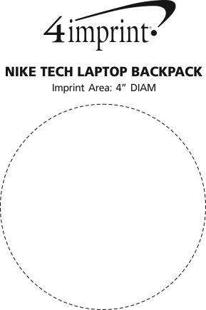 Imprint Area of Nike Tech Laptop Backpack