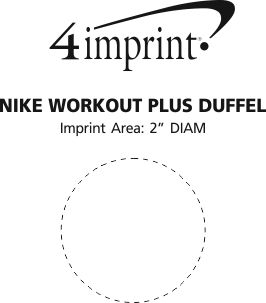 Imprint Area of Nike Workout Plus Duffel