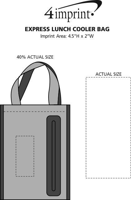 Imprint Area of Express Lunch Cooler Bag