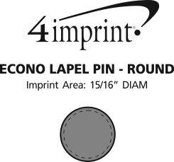 Imprint Area of Econo Lapel Pin - Round