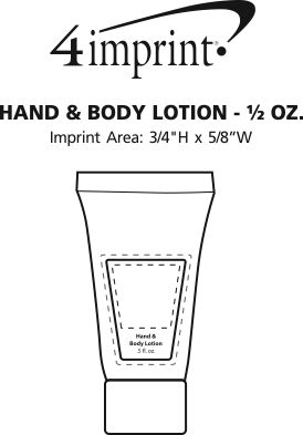Imprint Area of Hand and Body Lotion - 1/2 oz.