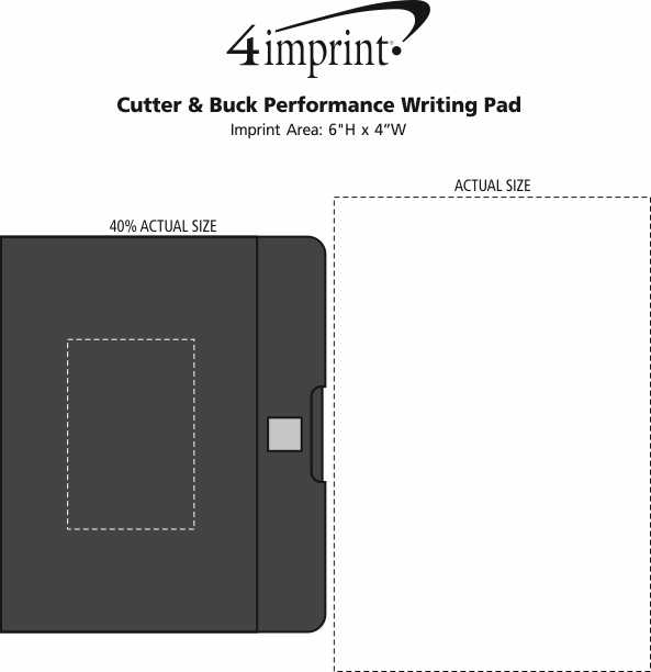 Imprint Area of Cutter & Buck Performance Writing Pad