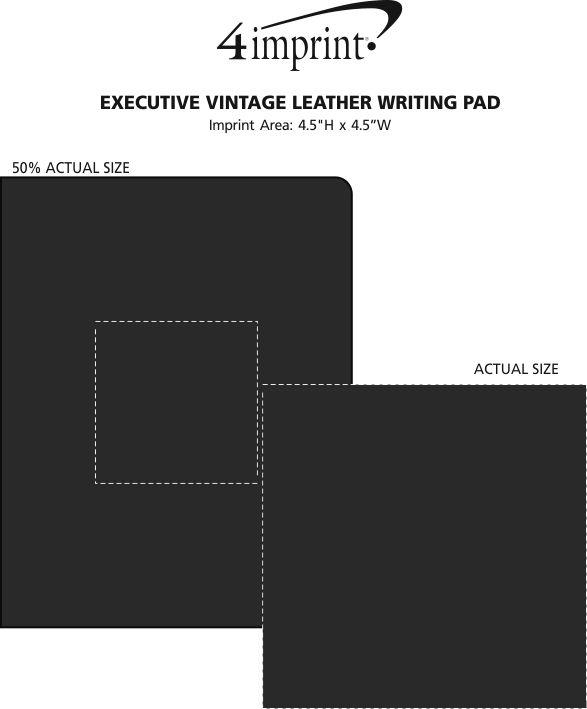 Imprint Area of Executive Vintage Leather Writing Pad