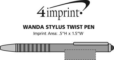 Imprint Area of Wanda Stylus Twist Pen