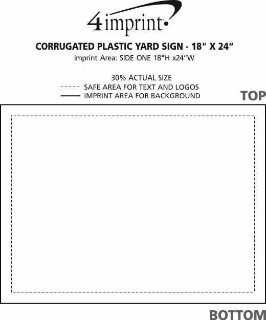 "Imprint Area of Corrugated Plastic Yard Sign - 18"" x 24"" - Full Color"