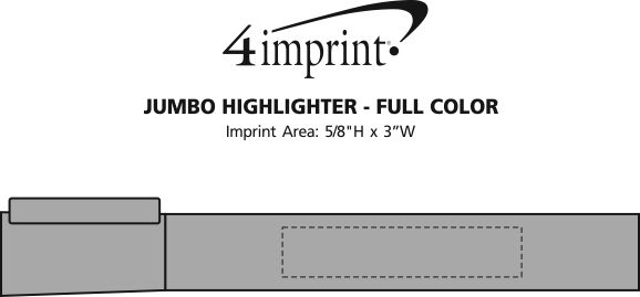 Imprint Area of Jumbo Highlighter - Full Color