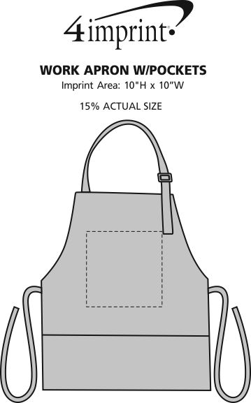 Imprint Area of Work Apron with Pockets