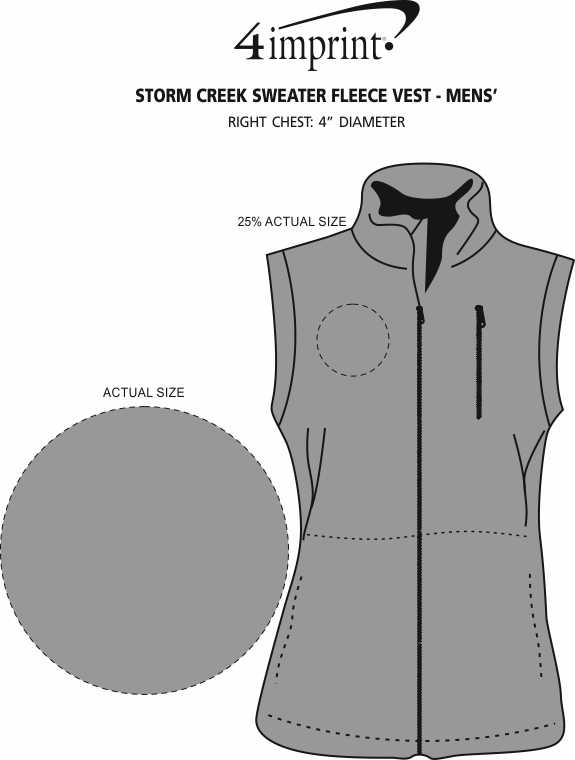 Imprint Area of Storm Creek Sweater Fleece Vest - Men's
