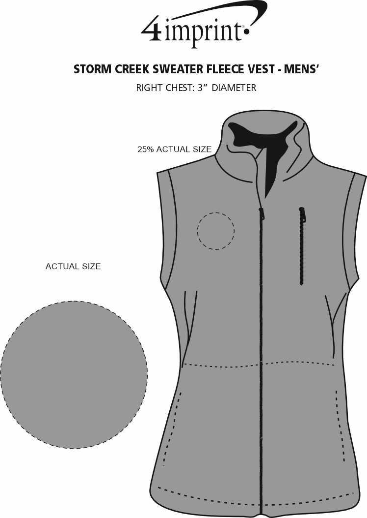 Imprint Area of Storm Creek Sweater Fleece Vest - Men's