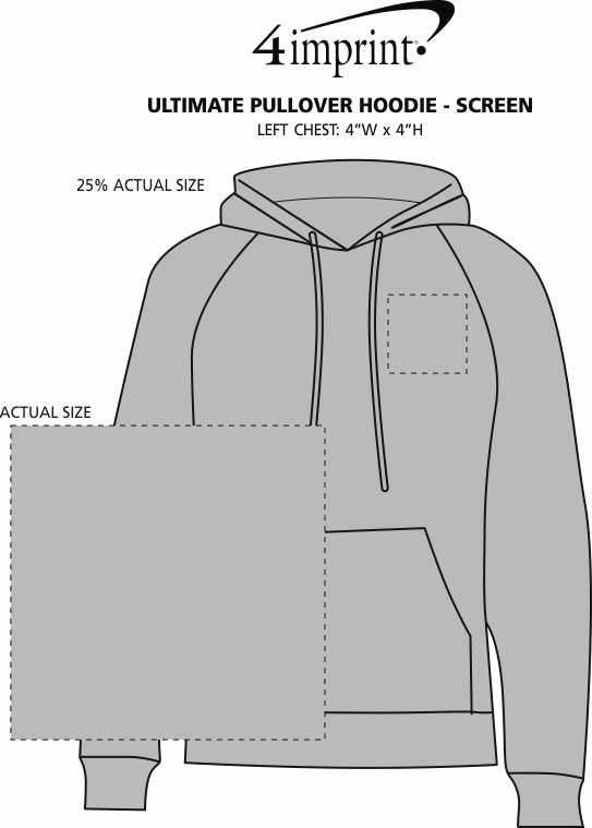 Imprint Area of Paramount Pullover Hoodie - Screen