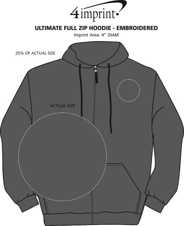 Imprint Area of Paramount Full-Zip Hoodie - Embroidered