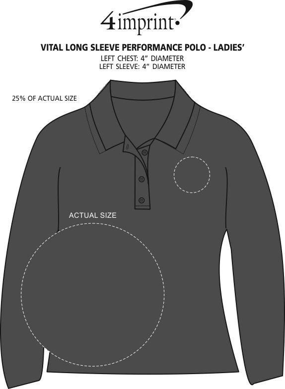 Imprint Area of Vital Long Sleeve Performance Polo - Ladies'