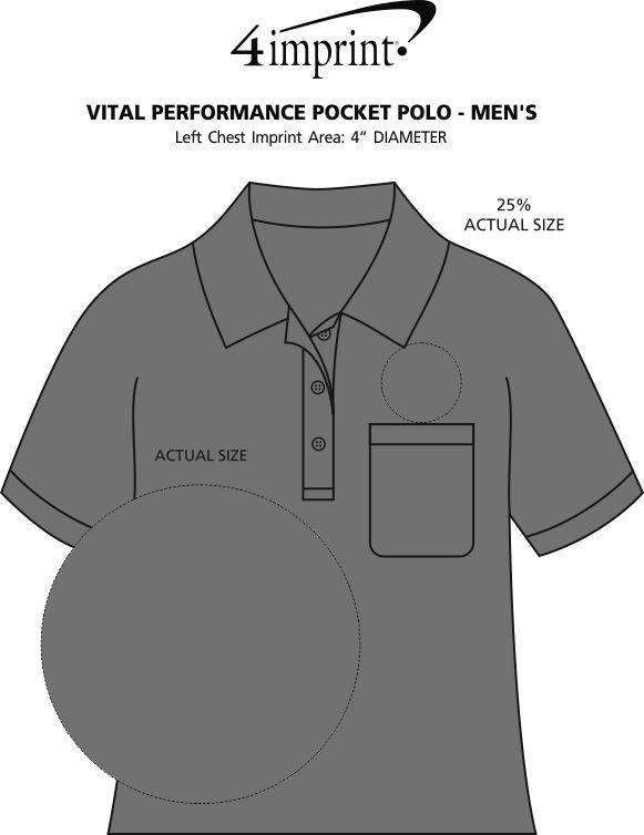 Imprint Area of Vital Performance Pocket Polo - Men's