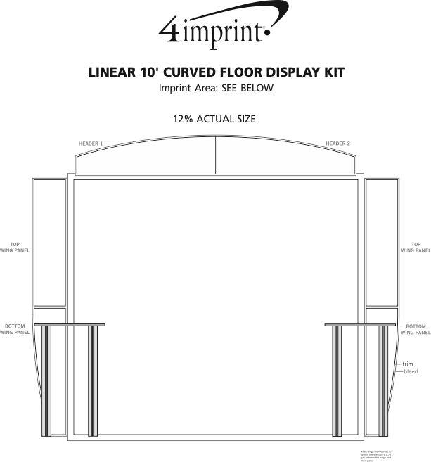 Imprint Area of Linear 10' Curved Floor Display Kit