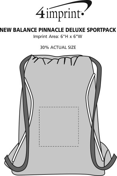 Imprint Area of New Balance Pinnacle Deluxe Sportpack