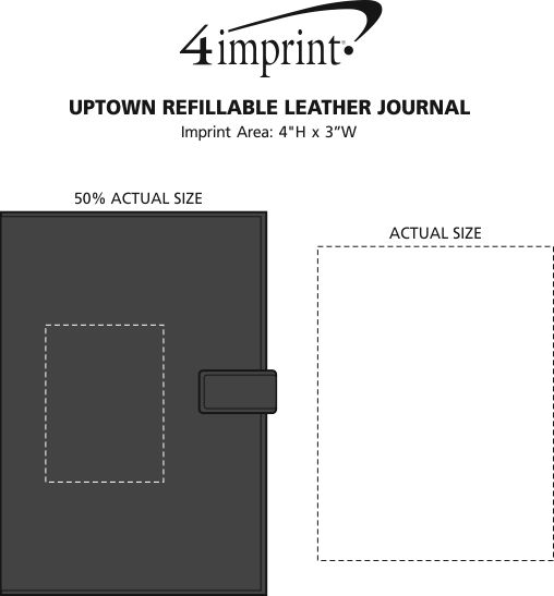 Imprint Area of Uptown Leather Journal