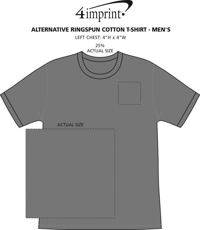 Imprint Area of Alternative Ringspun Cotton T-Shirt - Men's