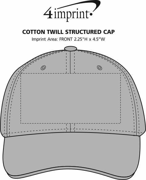 Imprint Area of Cotton Twill Structured Cap