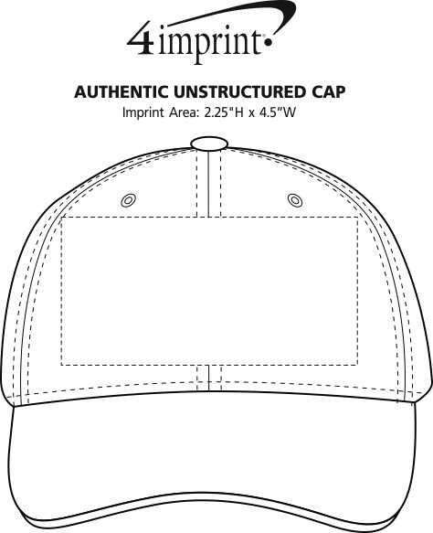 Imprint Area of Authentic Unstructured Cap