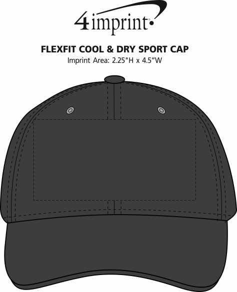 Imprint Area of Flexfit Cool & Dry Sport Cap