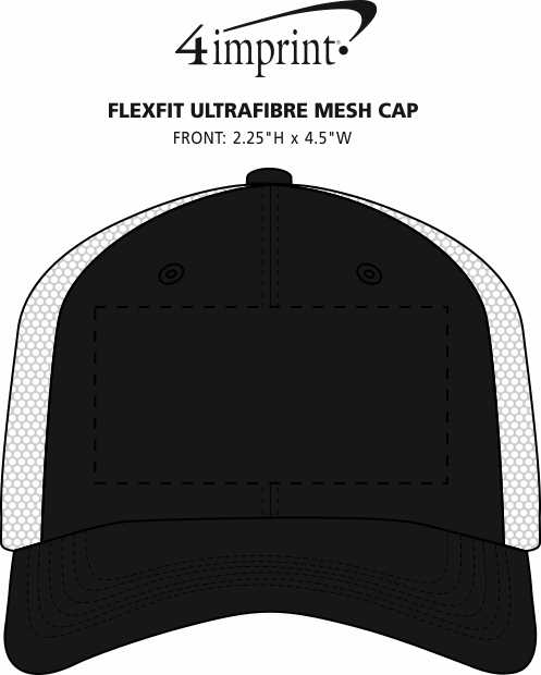 Imprint Area of Flexfit Ultrafibre Mesh Cap