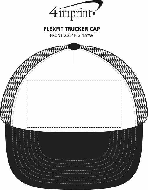 Imprint Area of Flexfit Trucker Cap