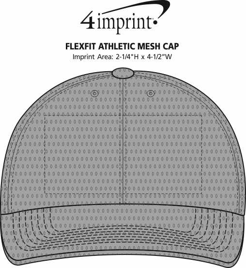 Imprint Area of Flexfit Athletic Mesh Cap