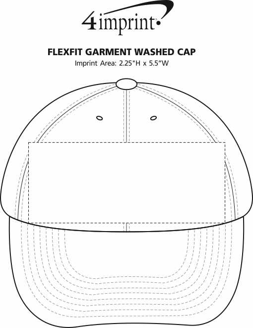 Imprint Area of Flexfit Garment-Washed Cap