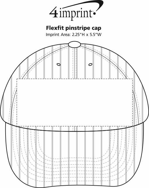 Imprint Area of Flexfit Pinstripe Cap
