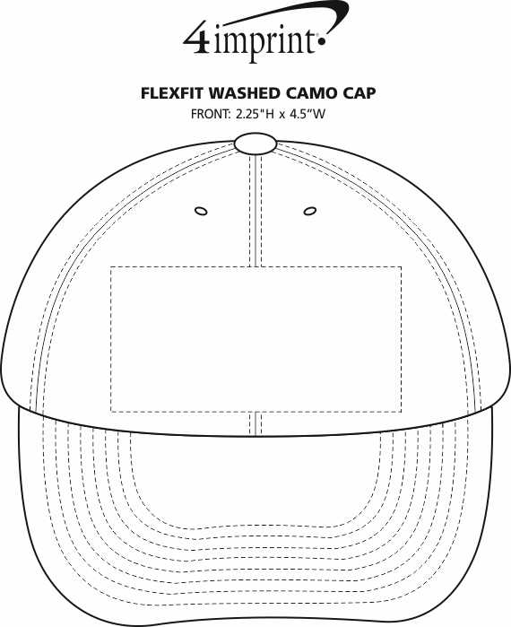 Imprint Area of Flexfit Washed Camo Cap