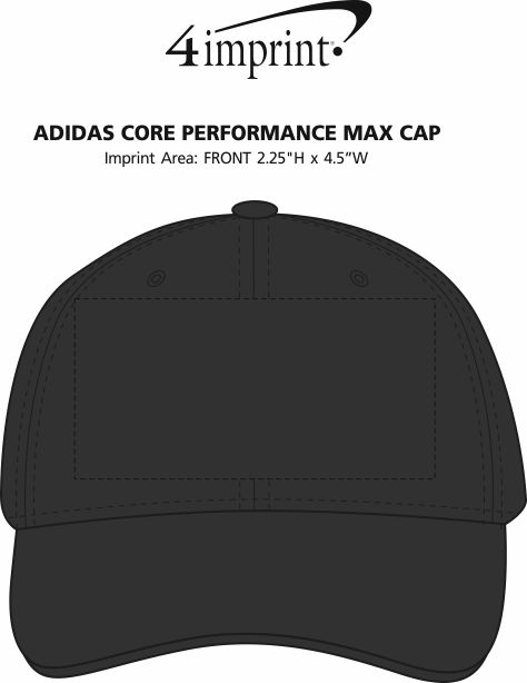 Imprint Area of adidas Core Performance Max Cap