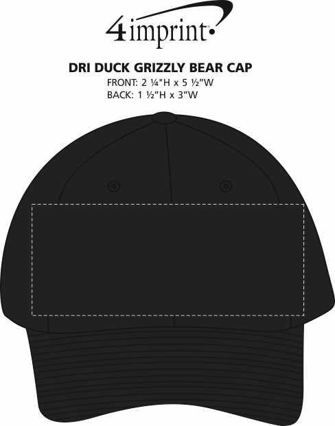 Imprint Area of DRI DUCK Grizzly Bear Cap
