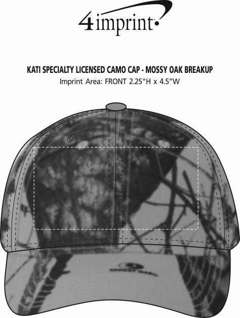 Imprint Area of Kati Specialty Licensed Camo Cap - Mossy Oak Break-Up