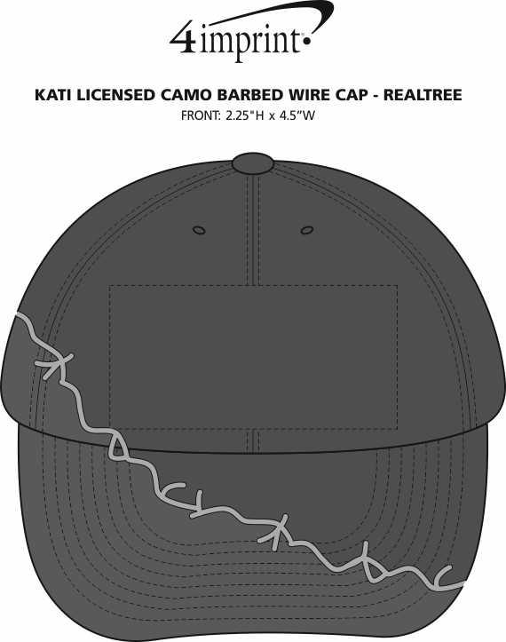 Imprint Area of Kati Licensed Camo Barbed Wire Cap - Realtree