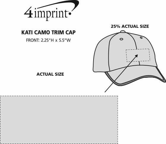 Imprint Area of Kati Camo Trim Cap