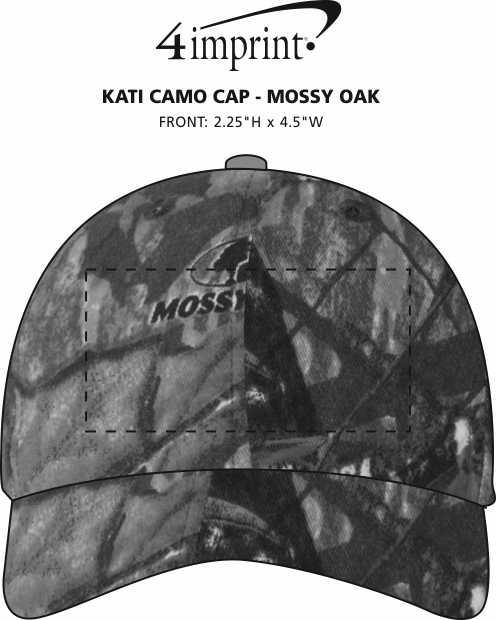 Imprint Area of Kati Camo Cap - Mossy Oak