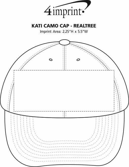 Imprint Area of Kati Camo Cap - Realtree