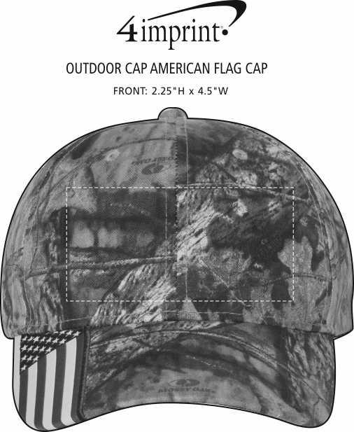 Imprint Area of Outdoor Cap American Flag Cap