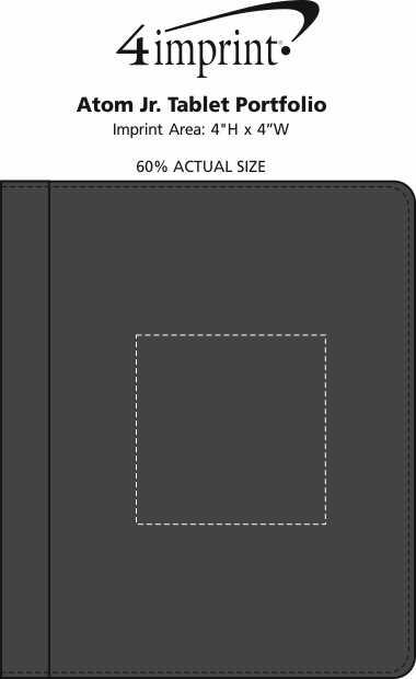 Imprint Area of Atom Jr. Tablet Portfolio