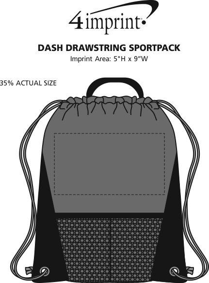 Imprint Area of Dash Drawstring Sportpack