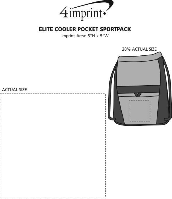 Imprint Area of Elite Cooler Pocket Sportpack