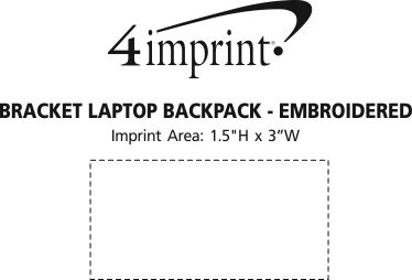 Imprint Area of Bracket Laptop Backpack - Embroidered